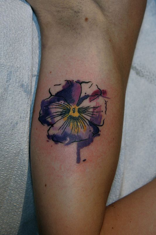 Watercolor P*Nsy Tattoo Tattuu Tatuajes Tinta Bocetos Ideas And Designs