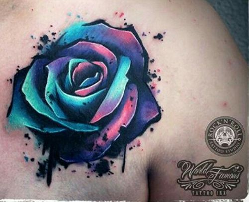 3D Water Color Rose Tattoo Tattoo Sleeve Inspiration Ideas And Designs