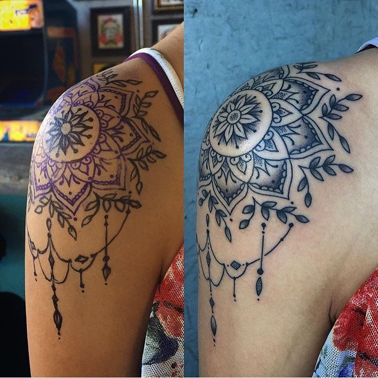 """27 Tattoo Studio On Instagram """"Awesome Shoulder Cap Piece Ideas And Designs"""