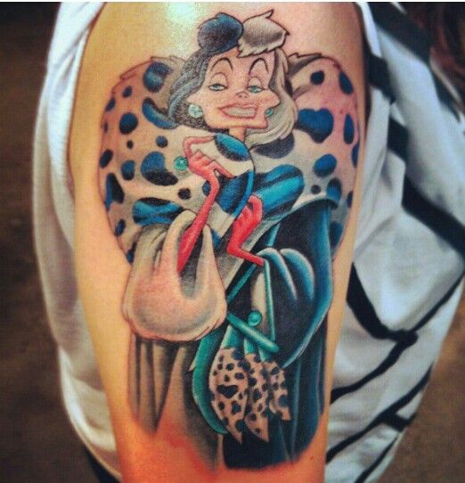 Cruella De Vil Tattoo Disney Villain Cruella Deville Ideas And Designs