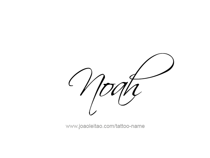 Noah Prophet Name Tattoo Designs Page 2 Of 5 T Oo Ideas And Designs