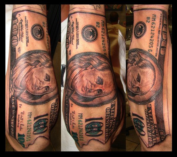 100 Dollar Bill Tattoo By Asuss06 On Deviantart Ideas And Designs