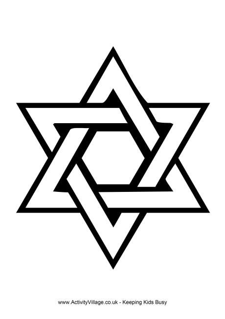 Star Of David Coloring Page 6 Point Stars Star Ideas And Designs