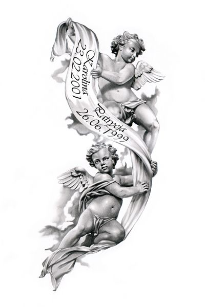 Angels Tattoo Design By Ca5Per Beautiful For Passing Of Ideas And Designs