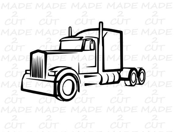 Semi Truck Svg 18 Wheeler Car Airplane Svg Silhouette Ideas And Designs