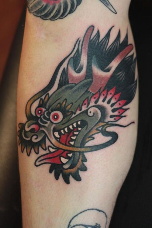 18 Vibrant Traditional Dragon Tattoos Traditional Style Ideas And Designs