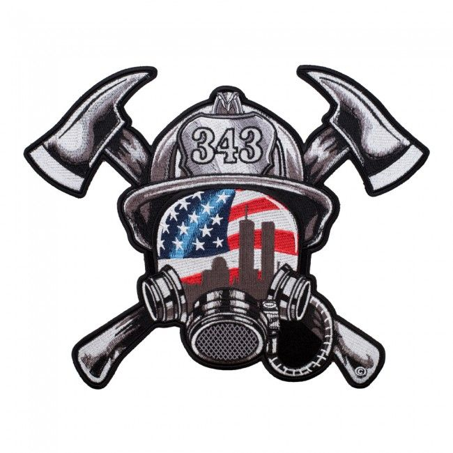 Embroidered 343 Firefighter September 11Th Remembered Ideas And Designs