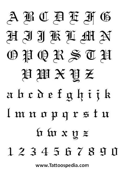 Cool Tattoo Designs Letters 5 Interesting Tattoo Fonts Ideas And Designs