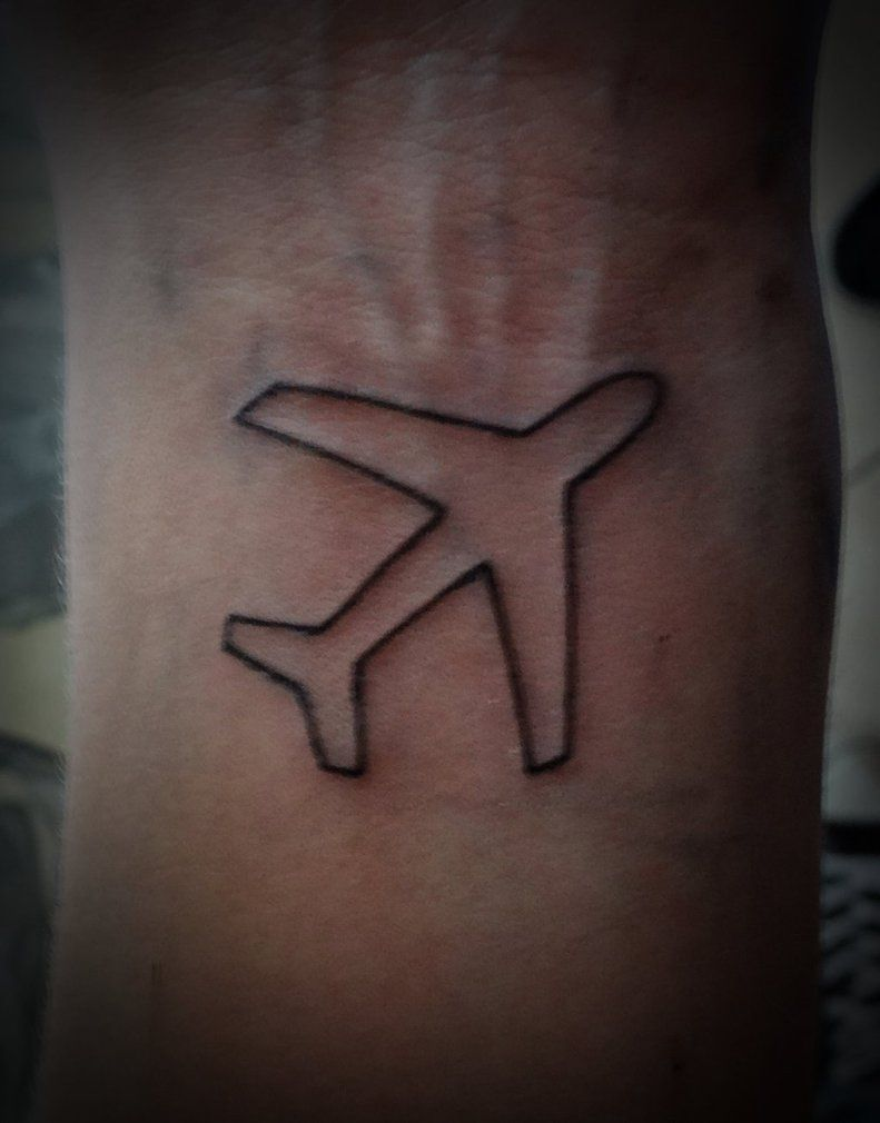 Little Airplane Tattoo By Kriscorpion Random Airplane Ideas And Designs
