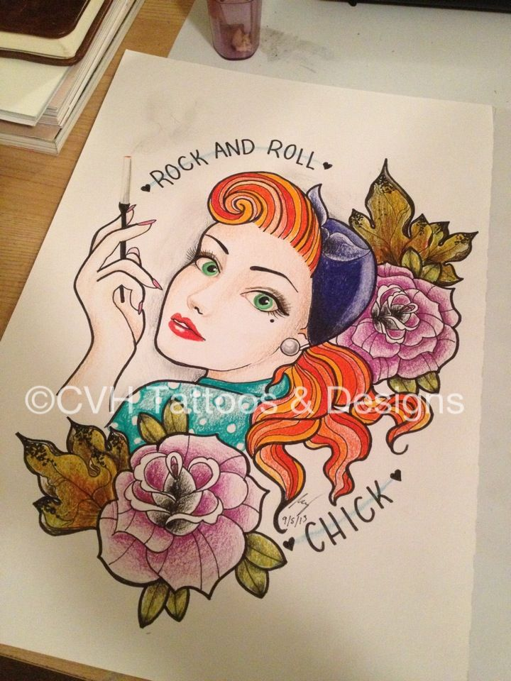 Rock And Roll Ch*Ck Rockandroll Rockabilly Drawing Ideas And Designs