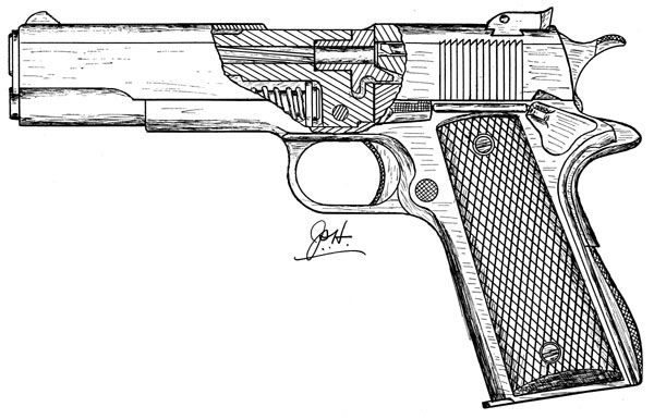 1911 Pistol Drawings Images Pictures Becuo St*P*D Ideas And Designs