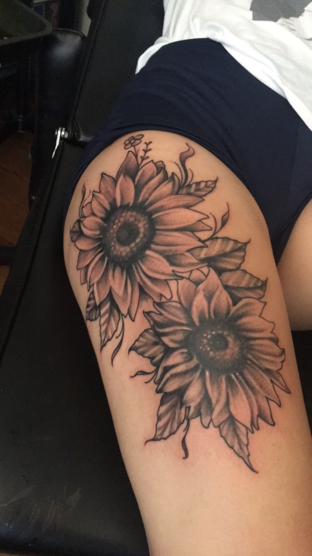 My Own Creation Of Sunflowers Tatts Tattoos Sunflower Ideas And Designs