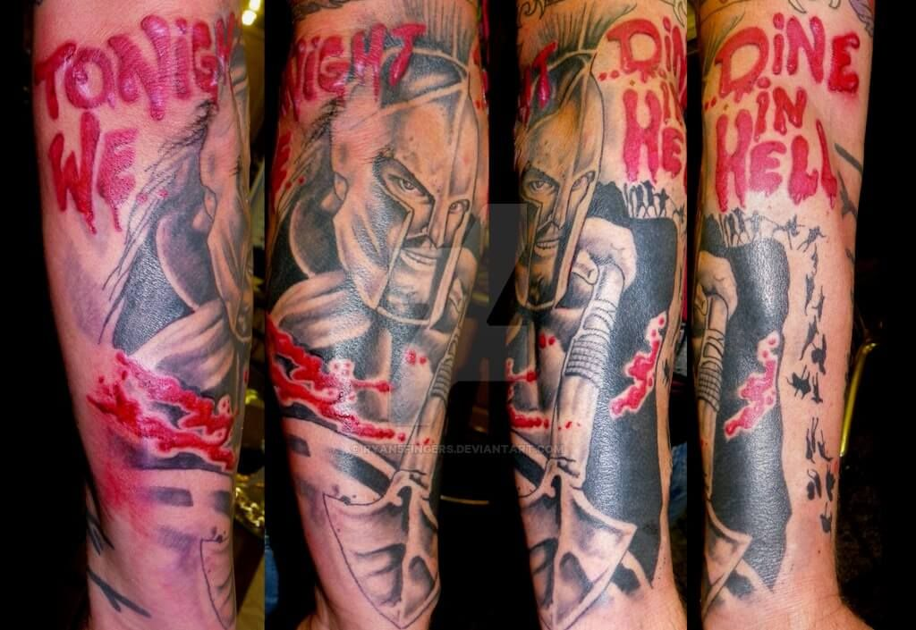 300 Spartan Tattoo Designs And Ideas On Forearm 300 Ideas And Designs