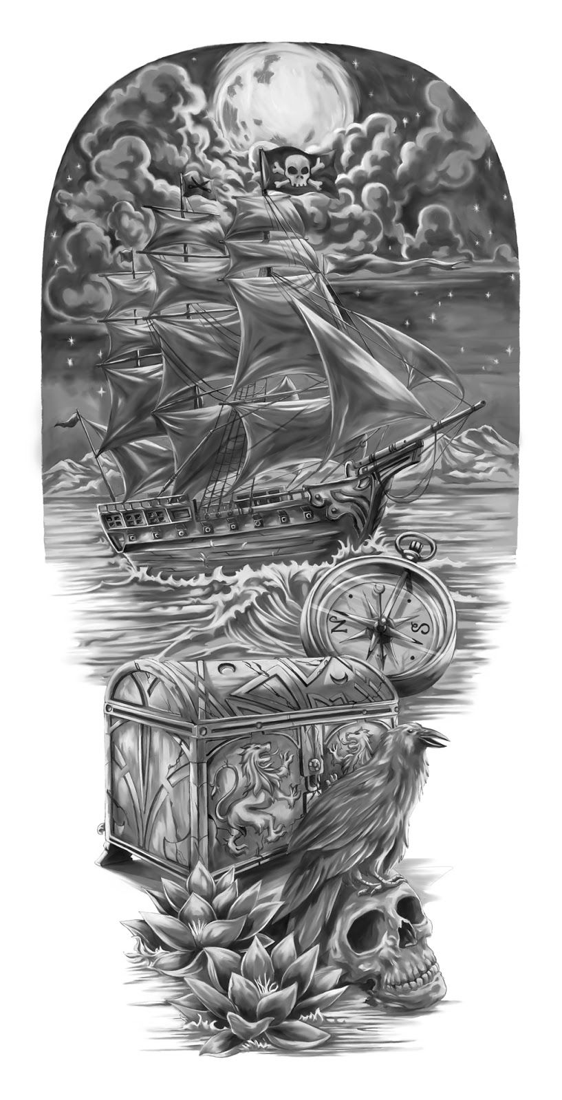 Pirate Tattoo Ideas Treasure Tattoo Designs Pirates Ideas And Designs
