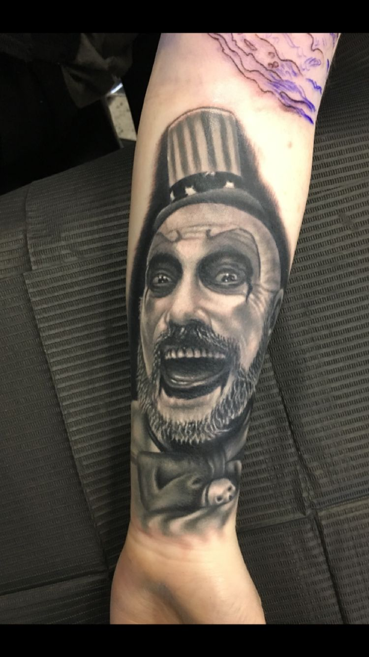 Captain Spaulding Portrait Tattoos Movie Tattoos Ideas And Designs