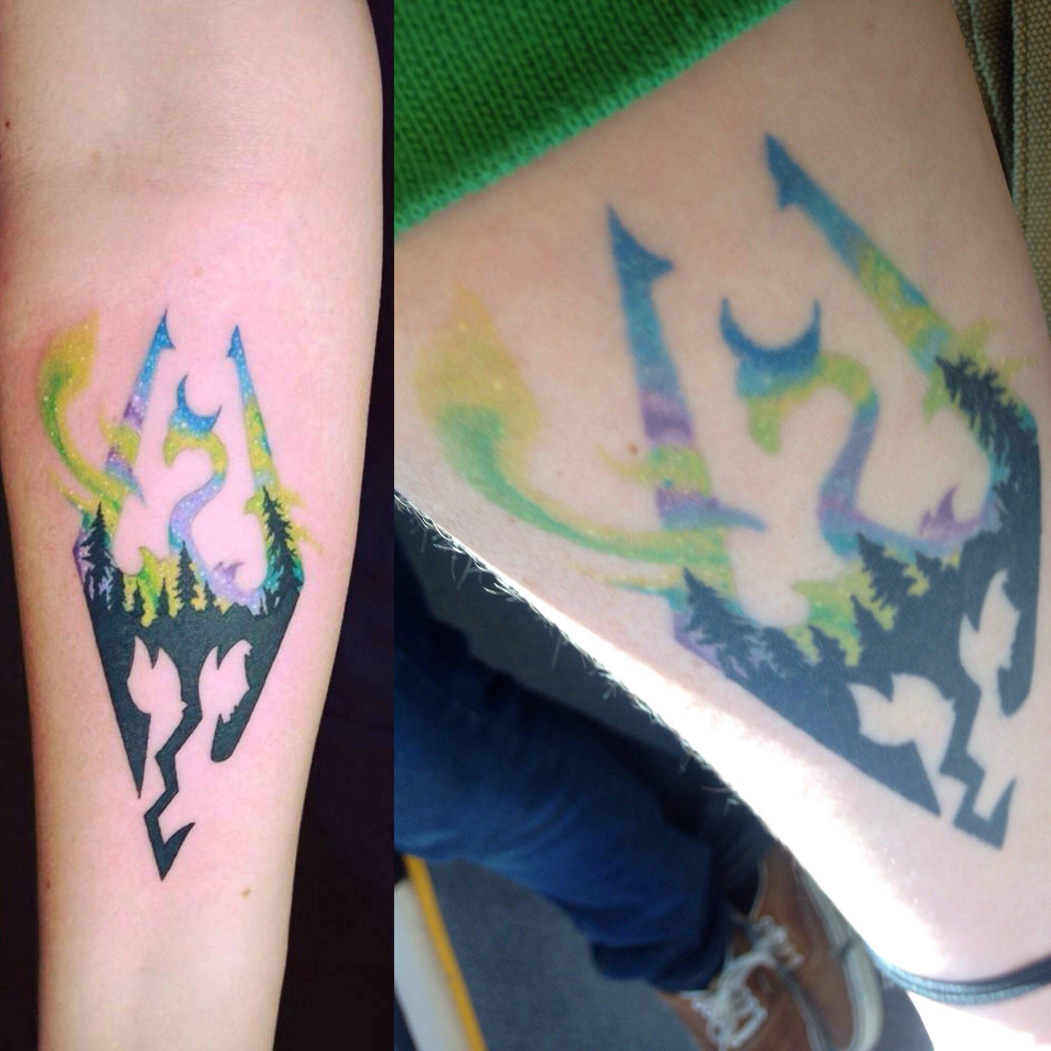 My First Skyrim Tattoo Fresh Vs 1 Year Later By Janelle Ideas And Designs