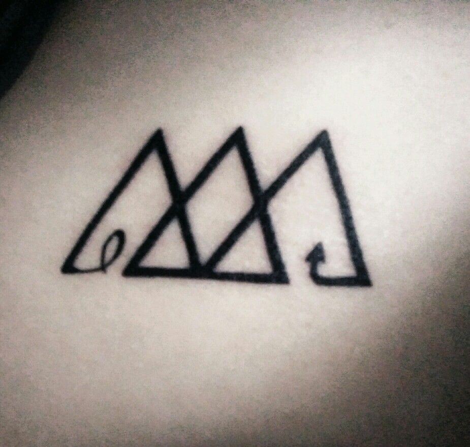 The Three Triangles Represent The Past Present And Ideas And Designs