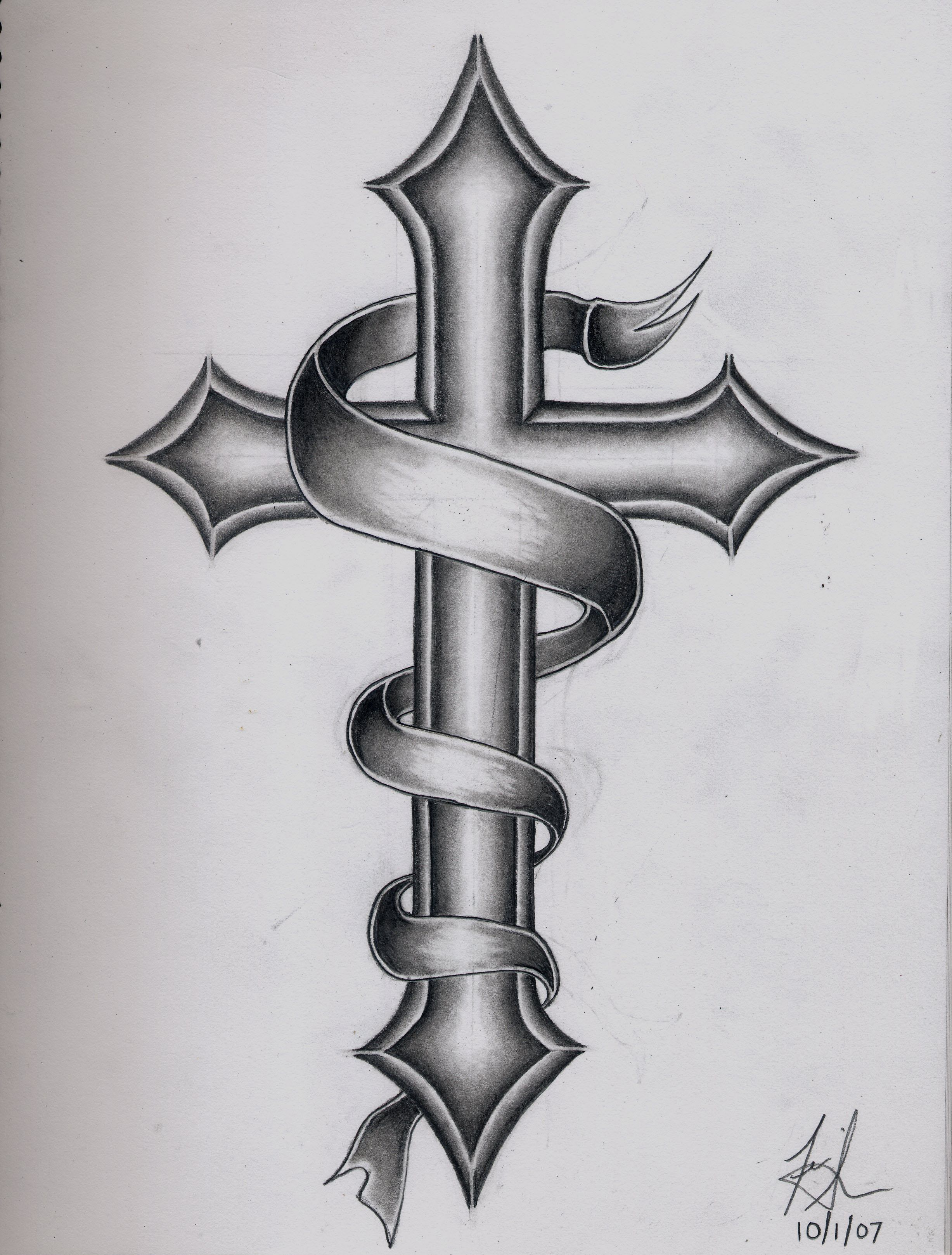 Images For Catholic Cross Tattoo Designs For Men Ideas And Designs