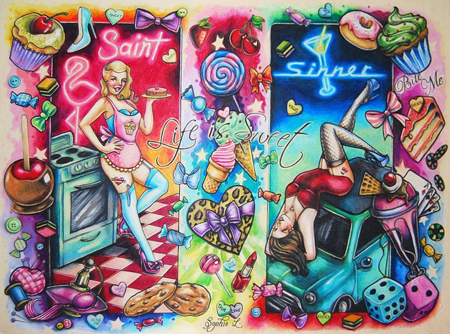 Candy Land Tattoo Flash By Dollyeyes Deviantart Com Ideas And Designs