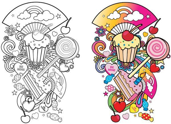 Candy Tattoo Flash Pin More Candy Drawings Land Tattoos Ideas And Designs