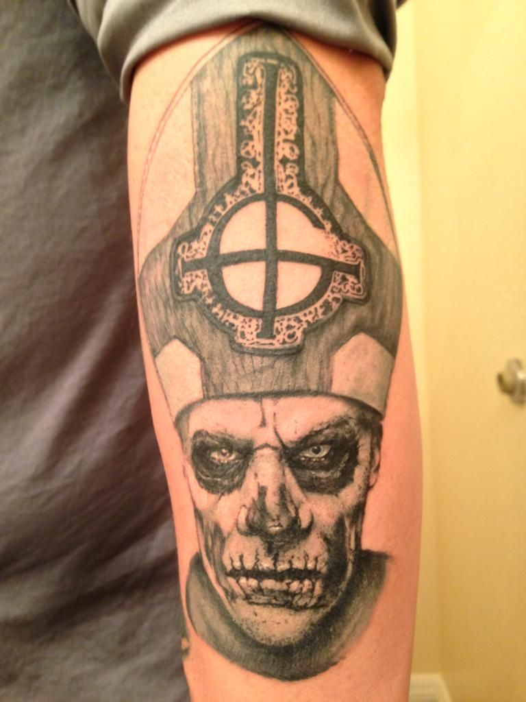 Papa Emeritus Ll Done By Mike O Hearn At Above All Tattoo Ideas And Designs