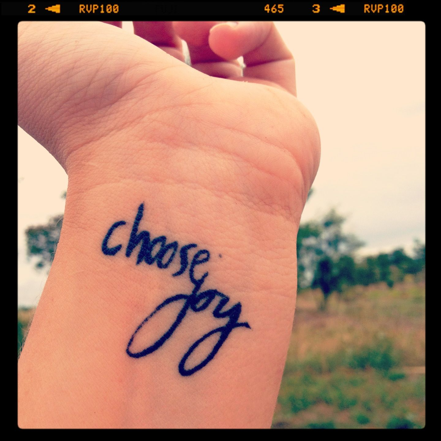 A Better Shot Of My Choose Joy Tattoo For Sara Gitz Ideas And Designs
