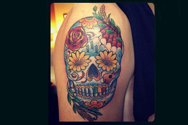 Kendall Schmidt S Day Of The Dead Tattoo Celebrity Ideas And Designs