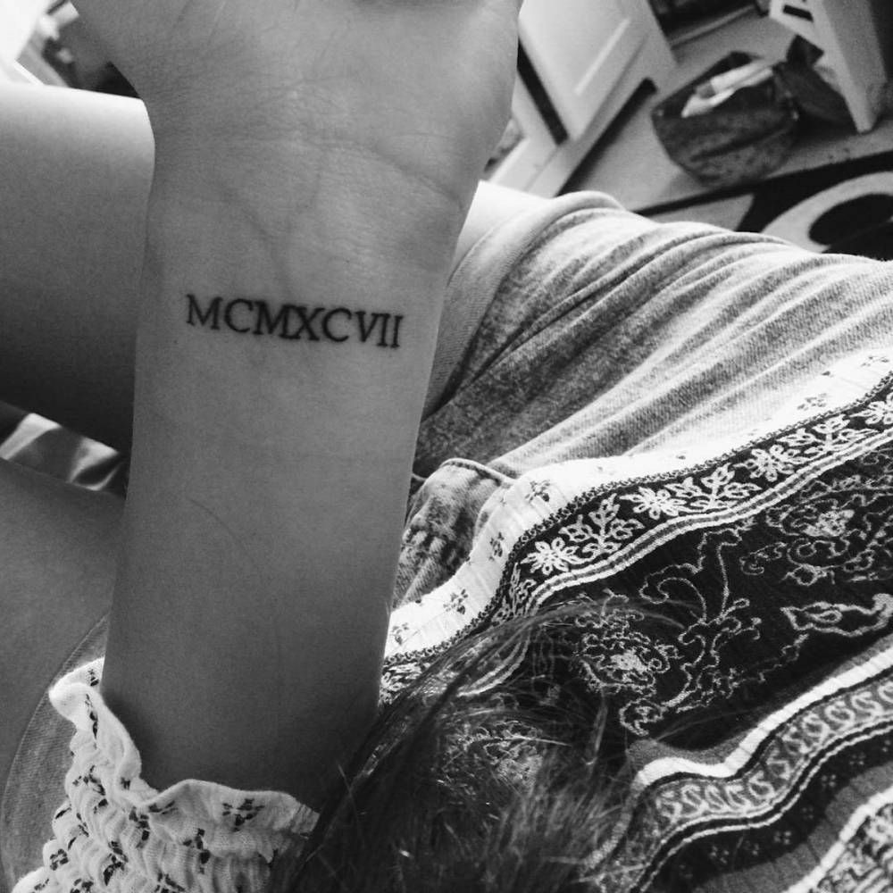 1997 In Roman Numerals On Gina's Wrist Little Tattoos Ideas And Designs Original 1024 x 768