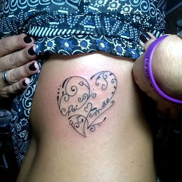 30 Beautifully Touching Tattoos Of Hearts With Names Ideas And Designs