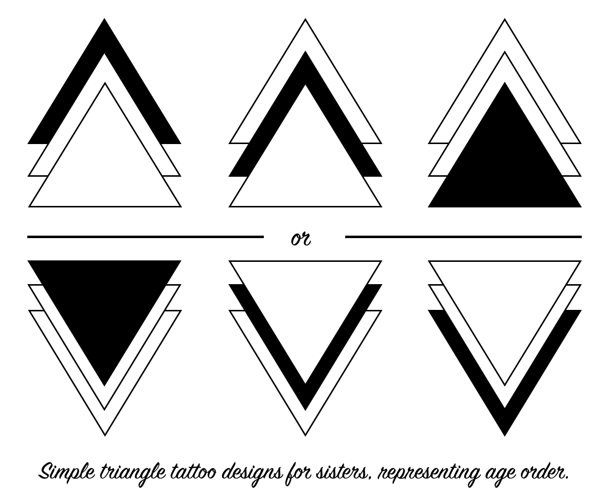 Triangle Tattoos For Sisters Brother Sister Tattoos Ideas And Designs