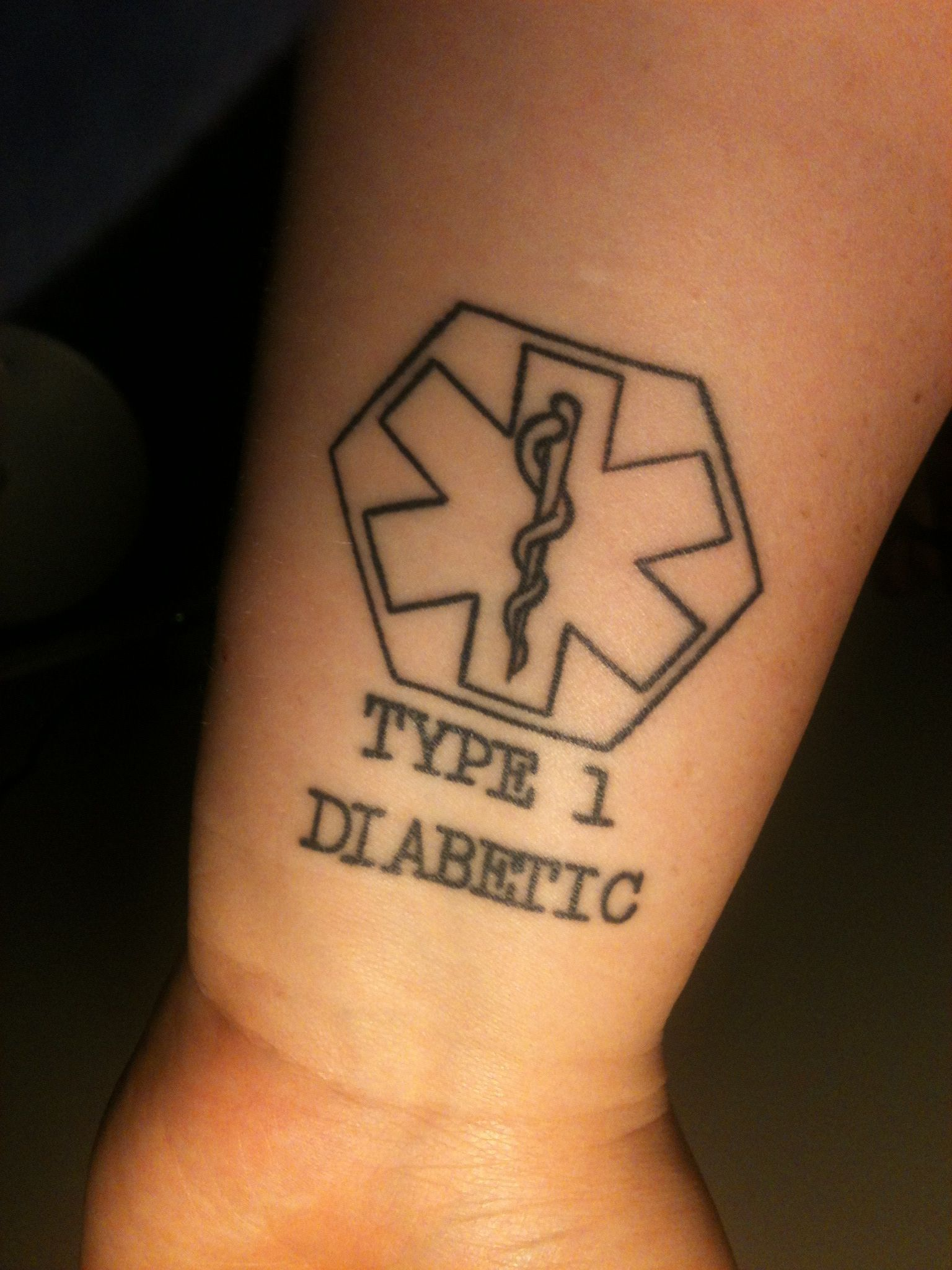 Medical Alert Type 1 Diabetic Tattoo Done By Brian At Ideas And Designs