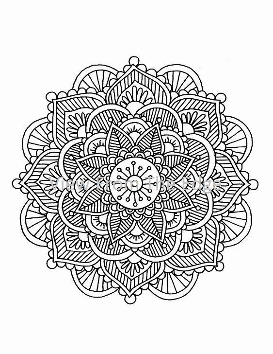 Mandala Coloring Page Mehndi Henna Printable Pdf By Katie Ideas And Designs