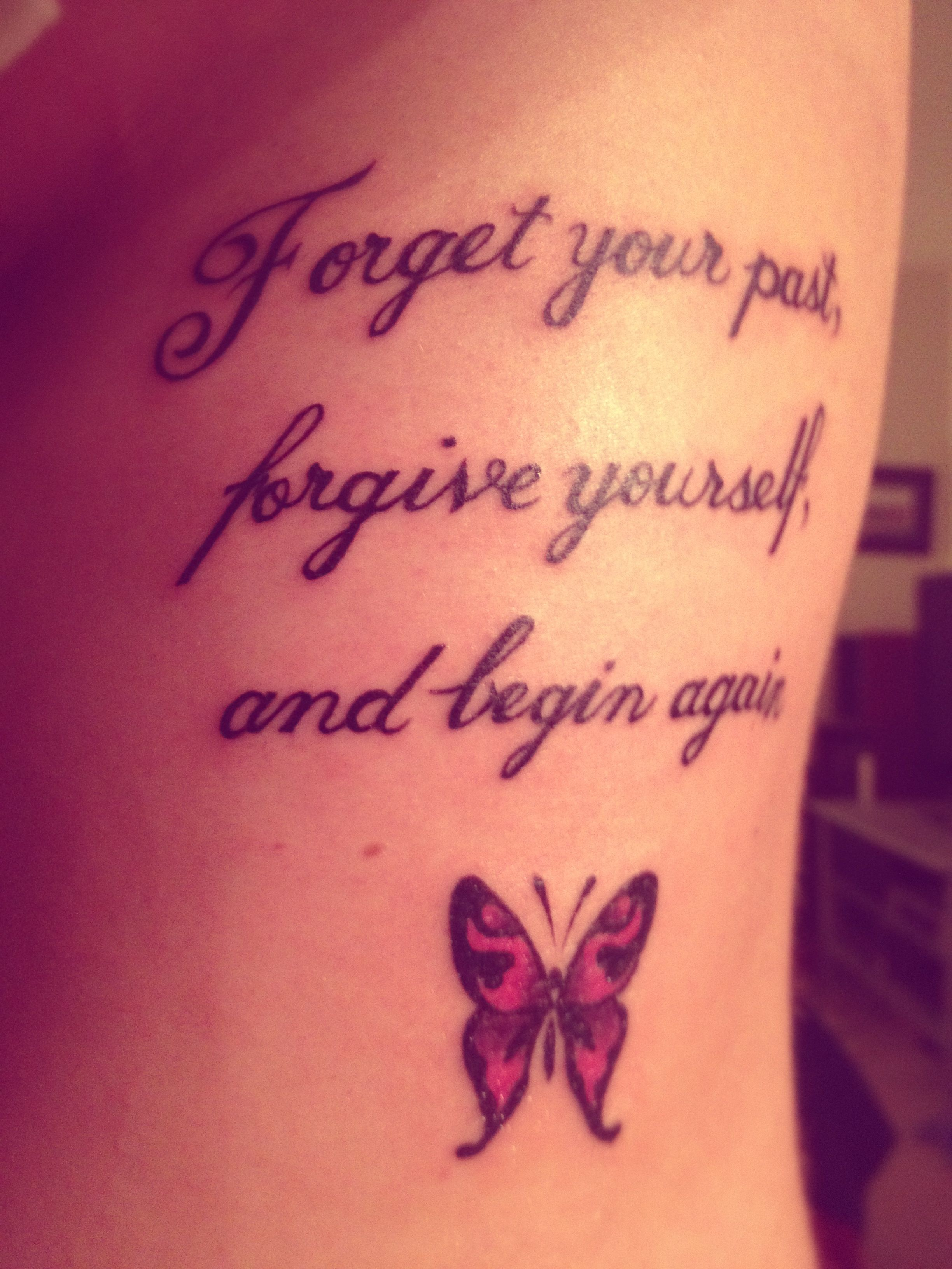 Nice Quote Tattoo With Butterfly Tattoos Tattoos Ideas And Designs