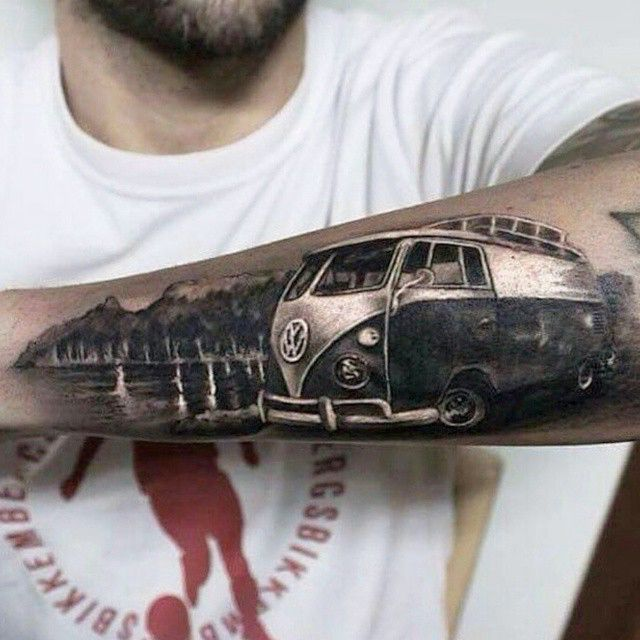 Kombi Tattoo Tattoo Surf Tatuaje Tatuajes Brazo Tatuajes Ideas And Designs