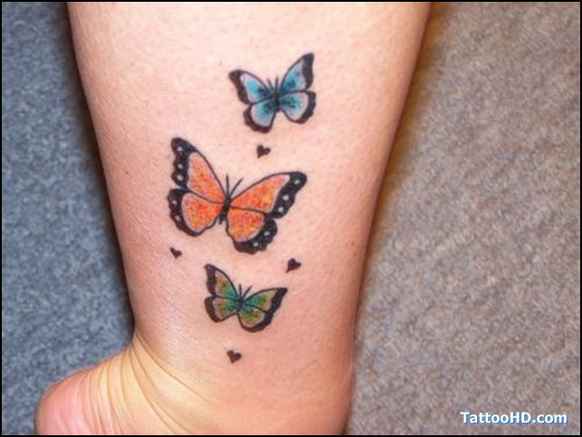 Three Butterfly Tattoo Labels Beautiful Tattoos Ideas And Designs