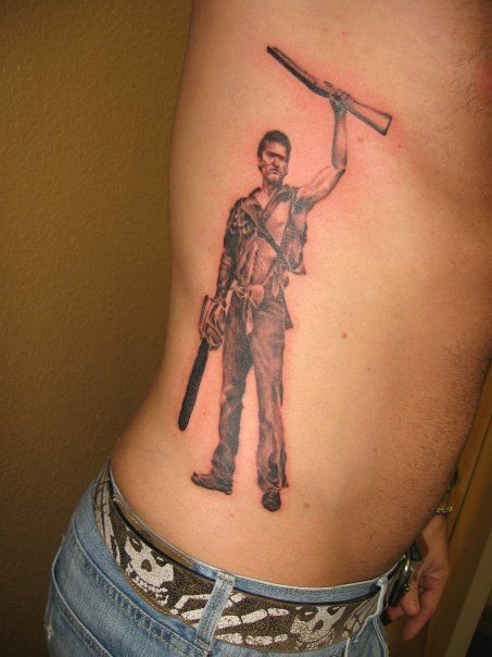 My Evil Dead Ash Bruce Campbell Tattoo Done By Carlos Ideas And Designs