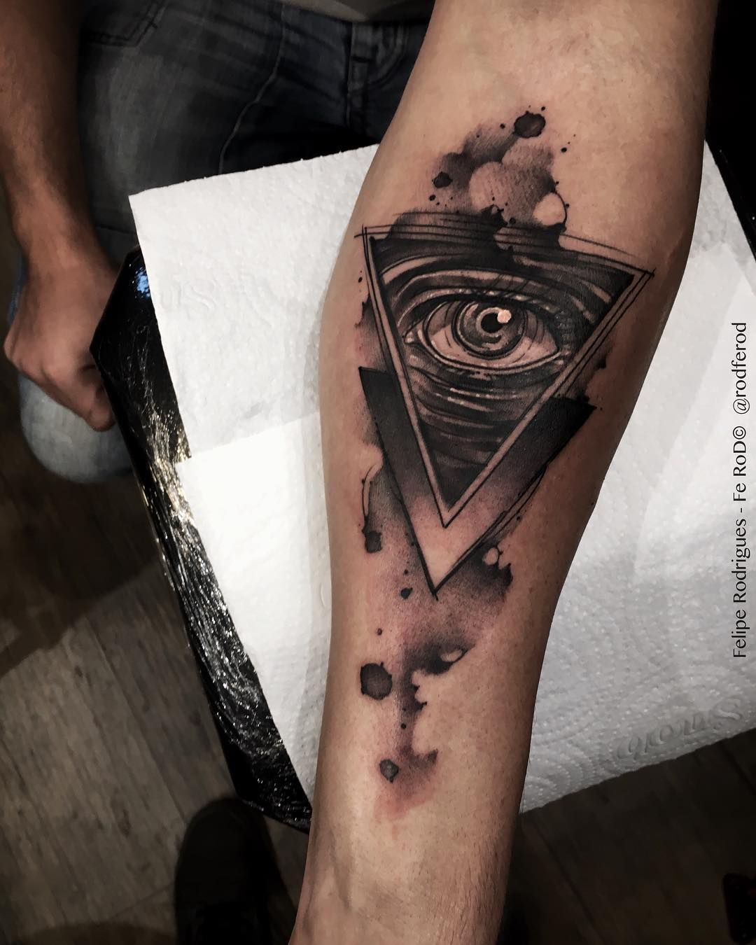 Watercolor Eye Of Providence — Tattoos On Men — Hand Ideas And Designs
