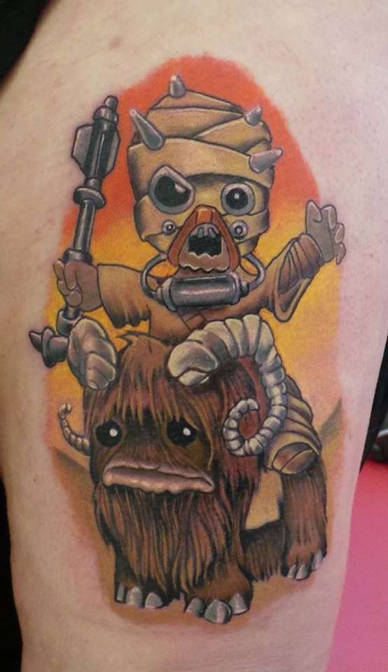 New School Tusken Bantha Ink Tattoo By Damian Cain At Ideas And Designs