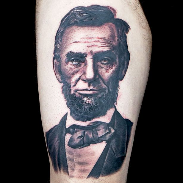 Abraham Lincoln Tattoo By Megan Jean Morris Political Ideas And Designs