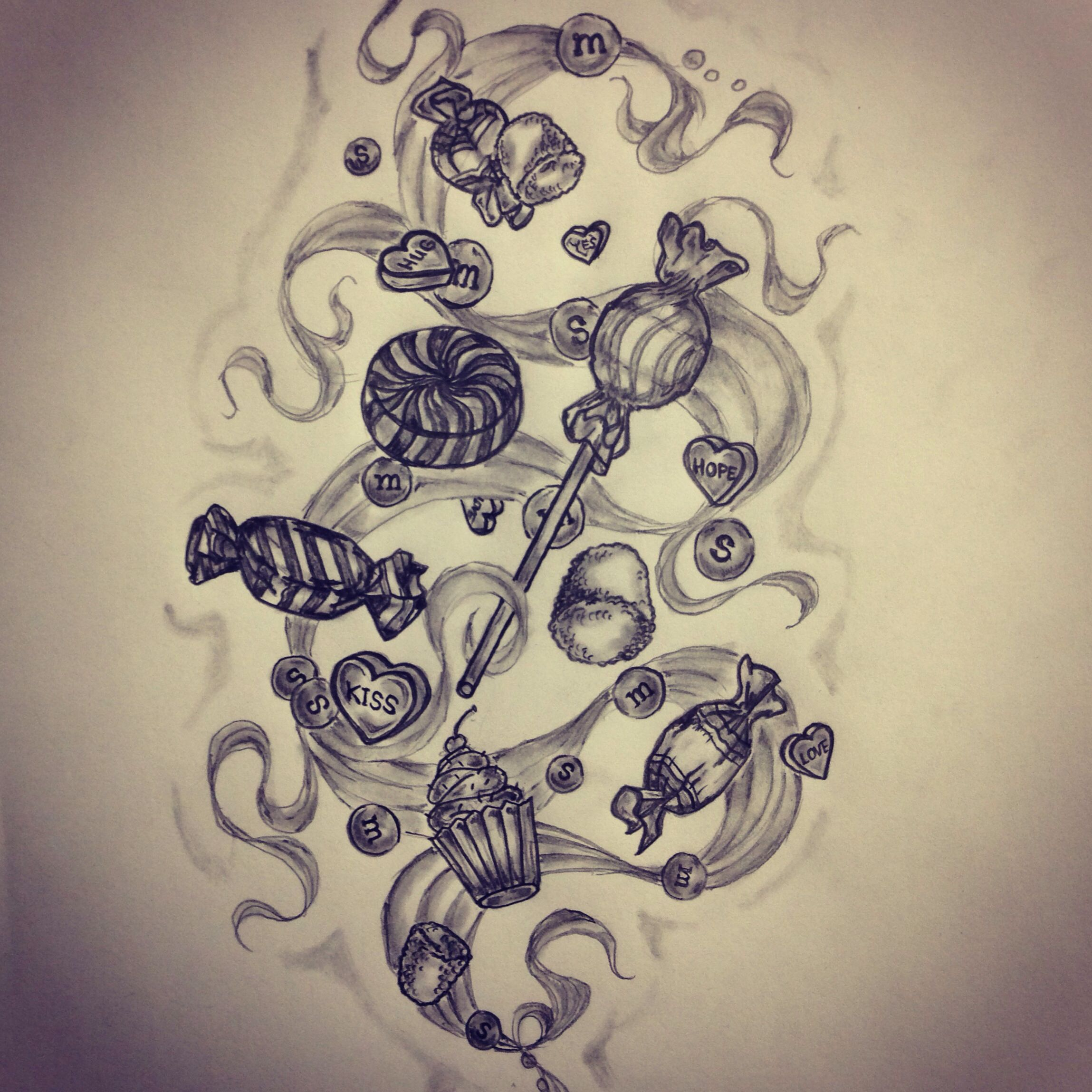 Candy Tattoo Sketch By Ranz Tattoo Art Sketches Ideas And Designs