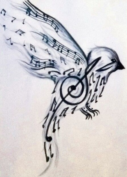 Music Note Bird Wrist Tattoo Tatoo Ideas Music Tattoos Ideas And Designs