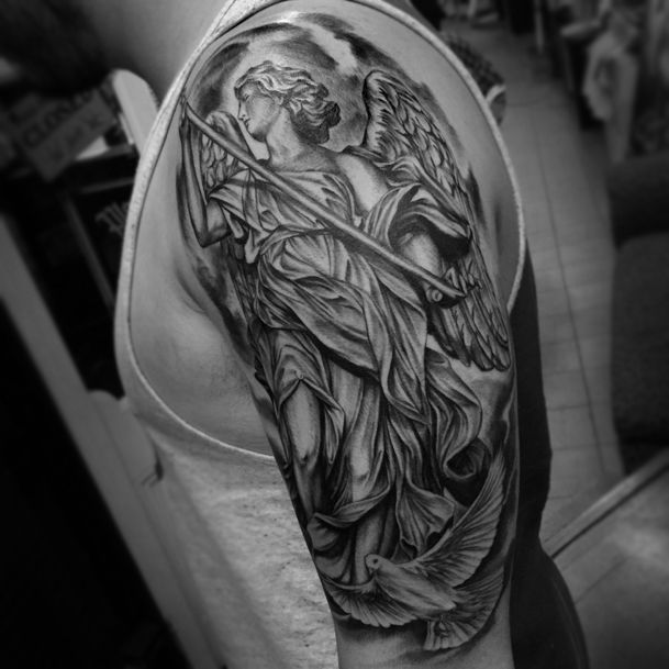 Angel Statue With Dove Google Search Codys Tats Ideas And Designs