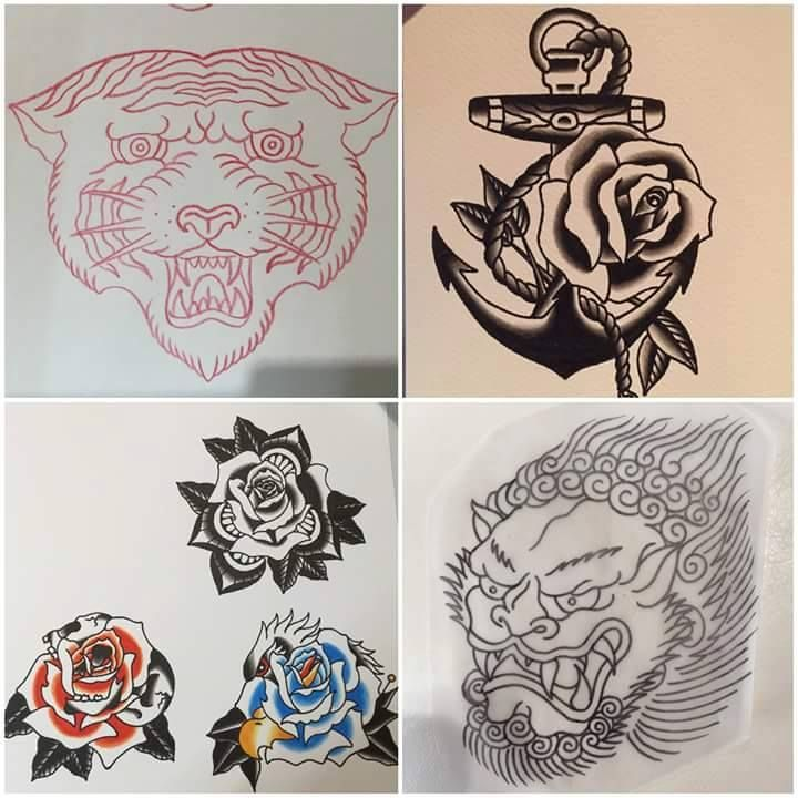 Tiger Anchor Roses Tattoo Designs By Luke 13 Tattoo Ideas And Designs