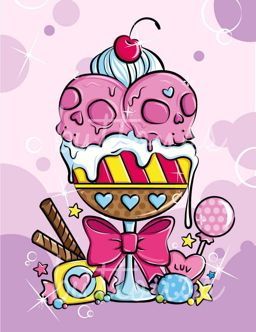Blippo Kawaii Shop Ice Squeem Candy Tattoo Cupcake Ideas And Designs