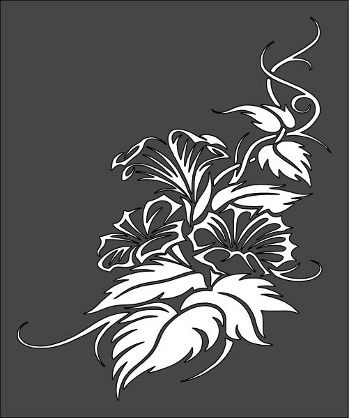 1 5X6 Inch Stencil Flower Free Shipping 10 5 00 Ideas And Designs
