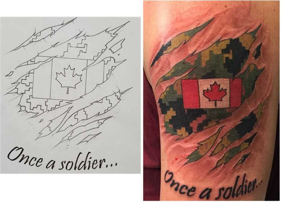 Canadian Military Tattoos Rcaf Caf Cadpat Tattoos Ideas And Designs