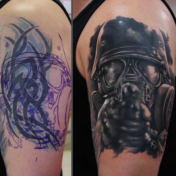 55 Incredible Cover Up Tattoos Before And After Sleeve Ideas And Designs
