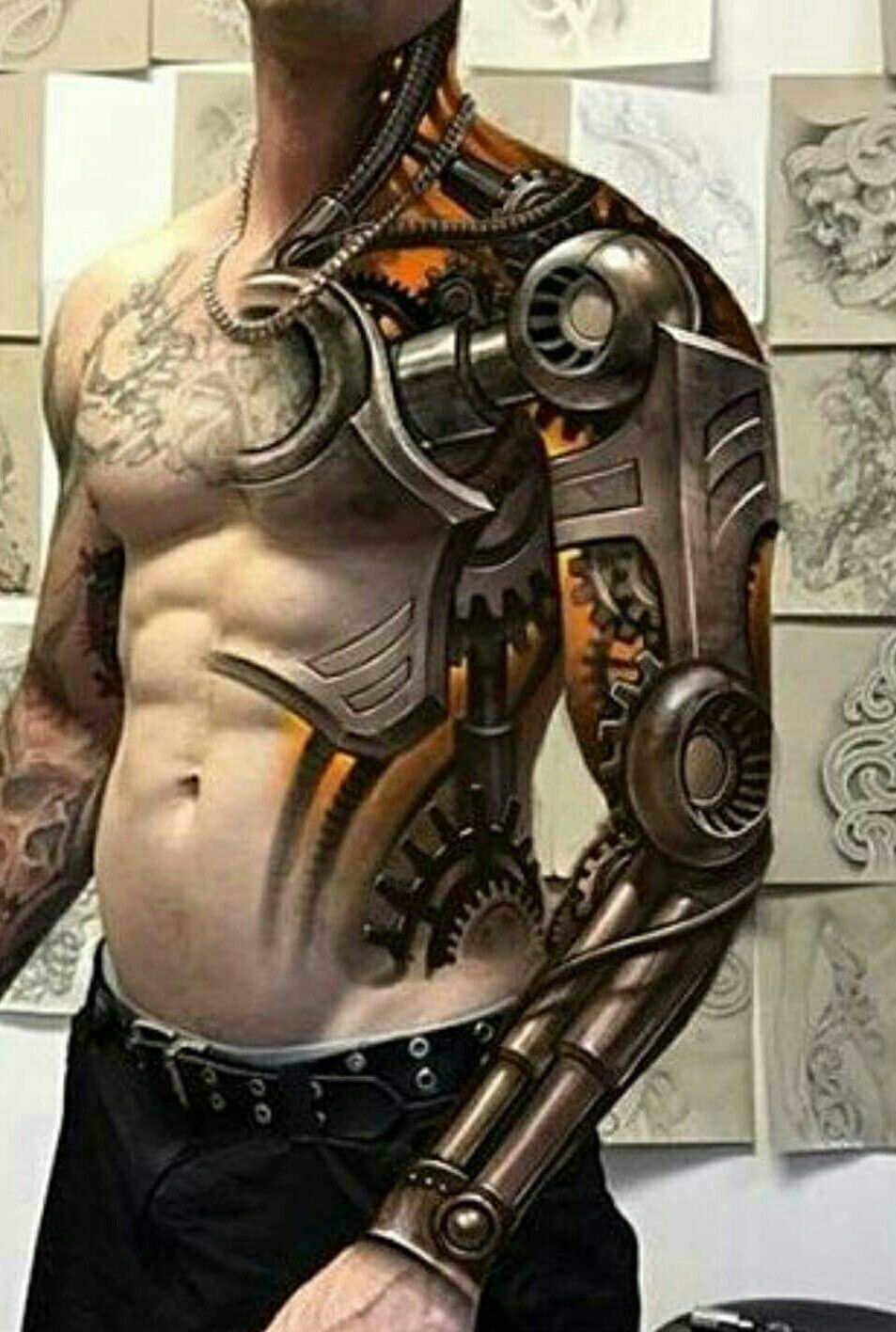 Tattoos Ssg Robot Tattoo Biomechanical Tattoo Tattoos Ideas And Designs