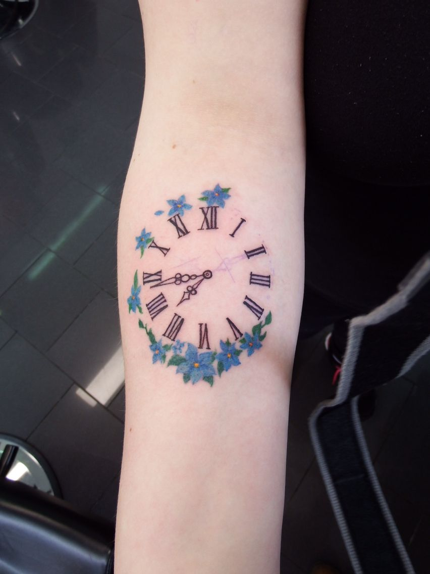 Clock Tattoo Set To The Time My Son Was Born Dave S Ideas And Designs