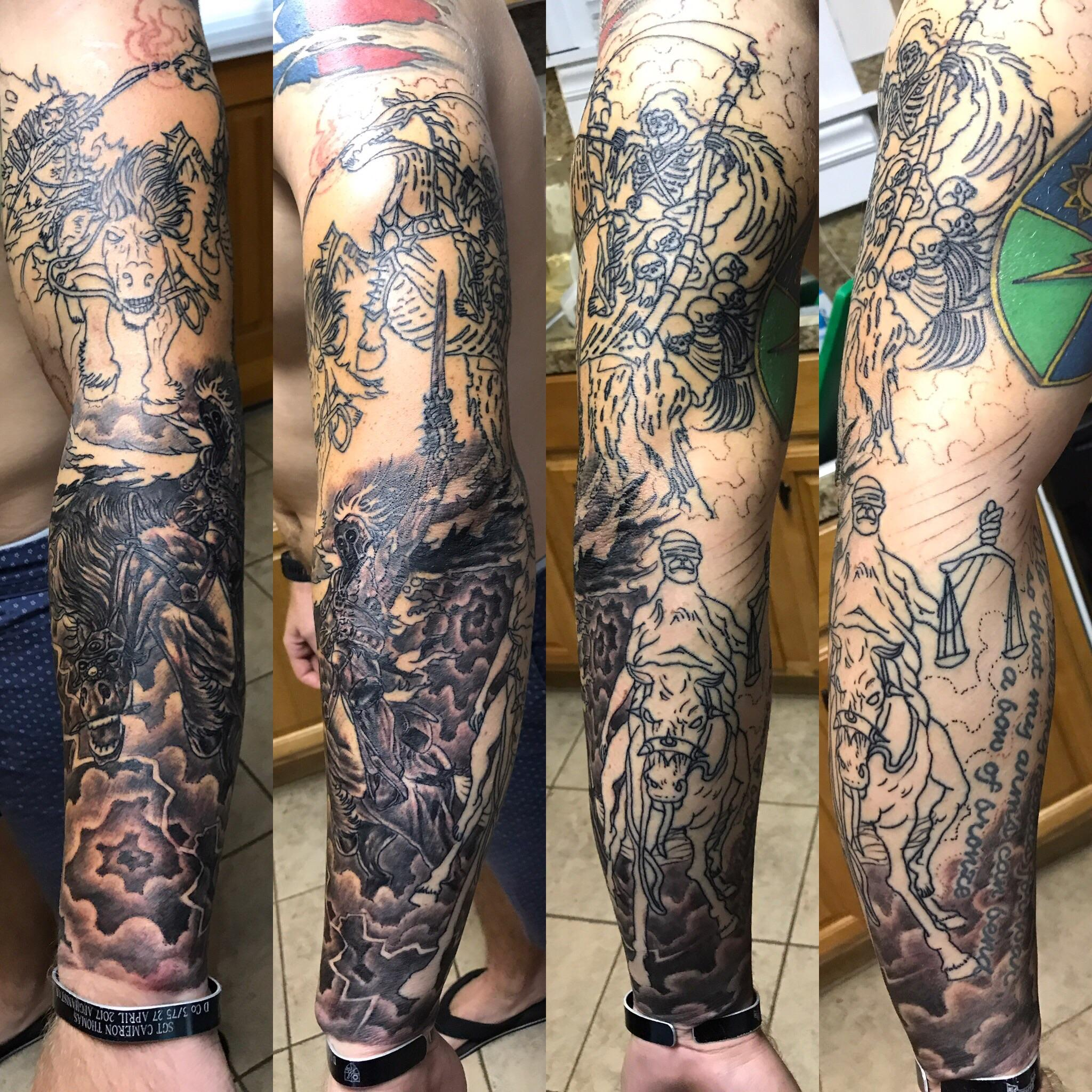 4 Horsemen Of The Apocalypse Sleeve Session 2 3 Done By Ideas And Designs